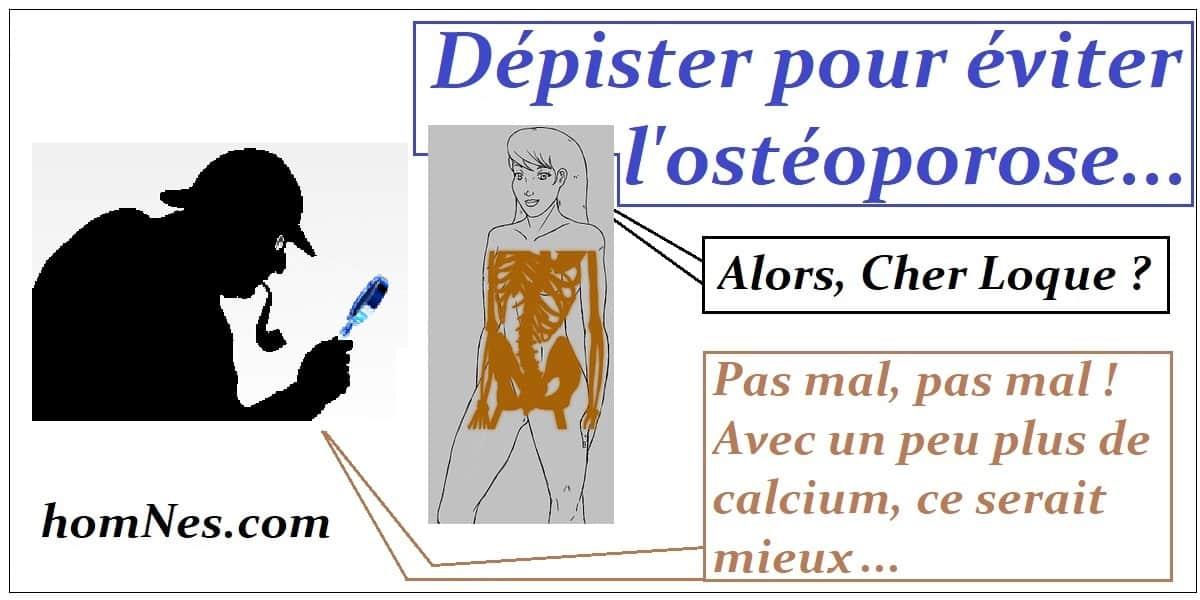 Dépister pour éviter l'ostéoporose - homNes